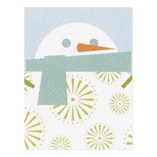 Winter Snowman Postcard