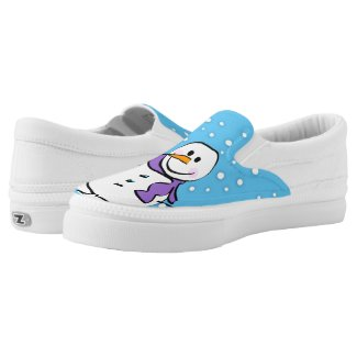 canvas Snowman shoes