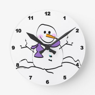 Winter Snowman clock