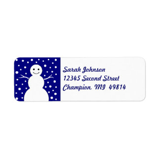 Winter Snowman Snowing Snow Return Address Labels