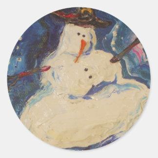 Winter Snowman Sticker