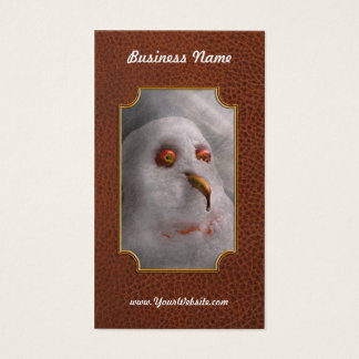Winter - Snowman - What are you looking at Business Card