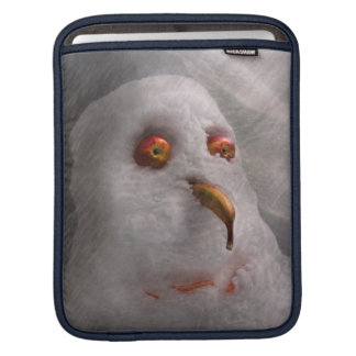 Winter - Snowman - What are you looking at iPad Sleeves