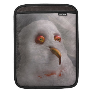 Winter - Snowman - What are you looking at iPad Sleeve