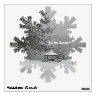 Winter Snowscene+Gazebo Wall Decal