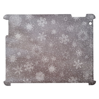 Winter snowy dark day background - 3D render Cover For The iPad