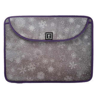 Winter snowy dark day background - 3D render MacBook Pro Sleeve