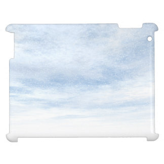 Winter snowy day background - 3D render iPad Cases
