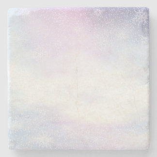 Winter snowy day background - 3D render Stone Coaster