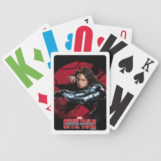Winter Soldier Character and Emblem Graphic Bicycle Playing Cards