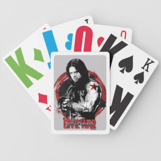 Winter Soldier Stylized Ink Swirl Graphic Bicycle Playing Cards
