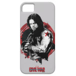 Winter Soldier Stylized Ink Swirl Graphic iPhone SE/5/5s Case