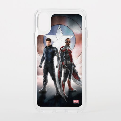 Winter Soldier & The Falcon in Front of Shield Speck iPhone X Case