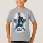 Winter Soldier Worn Star Poster T-Shirt
