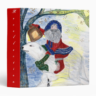 Winter Solistice, Father Christmas Avery Binder
