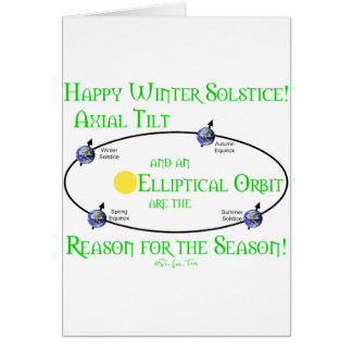 Winter Solstice Axial Tilt Card