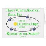 Winter Solstice Axial Tilt Card