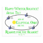 Winter Solstice Axial Tilt Postcard