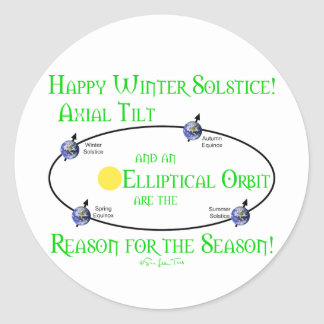 Winter Solstice Axial Tilt Stickers