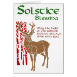 Winter Solstice Blessing Greeting Card