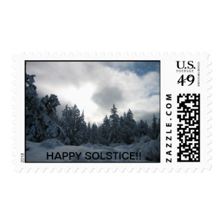 Winter solstice card stamps