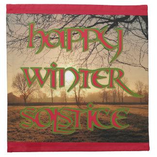 Winter Solstice Cocktail Napkins (Cloth)
