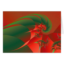 Winter Solstice Cool Abstract Fine Art Fractal Stationery Note Card