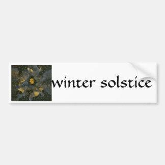 Winter Solstice Eve - collage Bumper Sticker