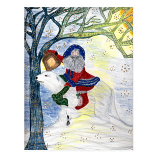 Winter Solstice Father Christmas Postcard
