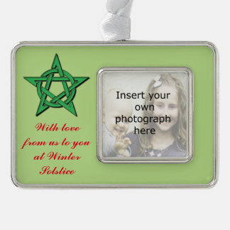 Winter Solstice Gift Ornament Wiccan Pentacle