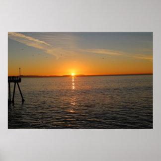 Winter Solstice in Huntington Beach CA Print