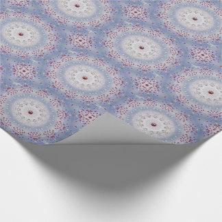 Winter Solstice Mandala and Garnet Wrapping Paper