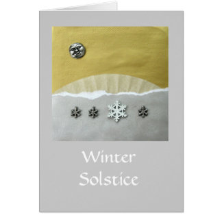 Winter Solstice Morning - collage Card