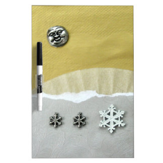 Winter Solstice Morning - collage Dry-Erase Boards
