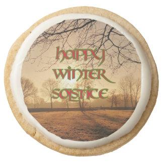 Winter Solstice Party Food: Shortbread Winter Sun Round Shortbread Cookie