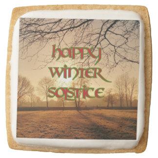 Winter Solstice Shortbread Cookies: Winter Sun Square Shortbread Cookie