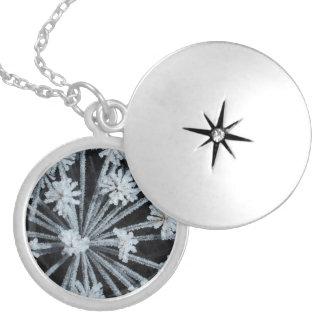 Winter Solstice Silver Locket Necklace