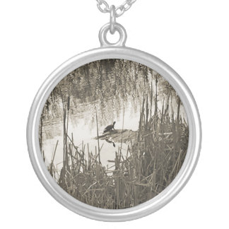 Winter Solstice Silver Plated Necklace