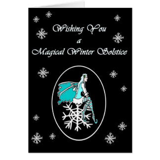 Winter Solstice Snowflake Faerie Yule card