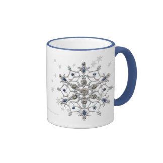 Winter Solstice Snowflake Ringer Coffee Mug