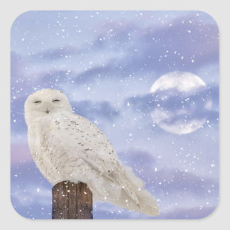Winter solstice square sticker