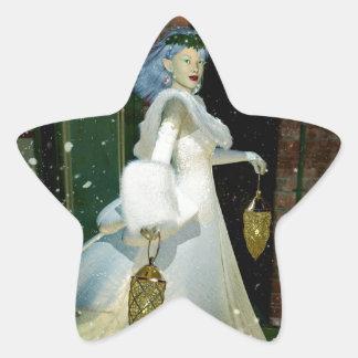 Winter Solstice Star Stickers