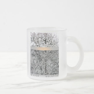 winter solstice trees frosted glass coffee mug