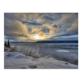 Winter Solstice Turnagain Arm Postcard