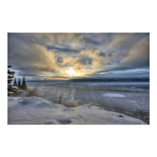 Winter Solstice Turnagain Arm Personalized Stationery