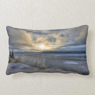 Winter Solstice Turnagain Arm Throw Pillow