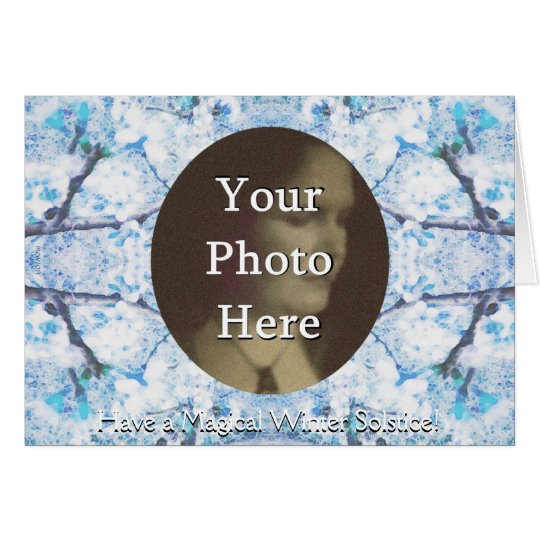 Winter Solstice Yule Snow Christmas Photo Card