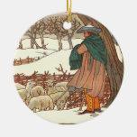 """Winter Song"" Round Ceramic Decoration"