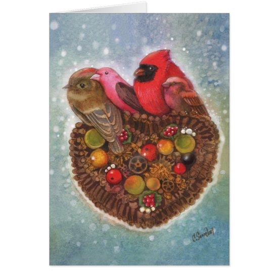 """Winter SongBirds""  by Christina Siravo Card"
