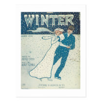 Winter Songbook Cover Postcard
